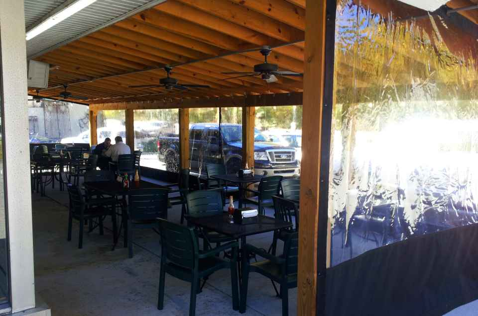 Using A Few Strategically Placed Space Heaters, Clients Can Enjoy Lunch  Outside Despite The Cold By Offering Patrons A Clear Plastic Enclosure. ...