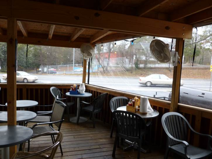 By Winterizing This Space With Plastic Winter Panels, Patrons Will Be  Welcomed Into A Warm Space.. ...