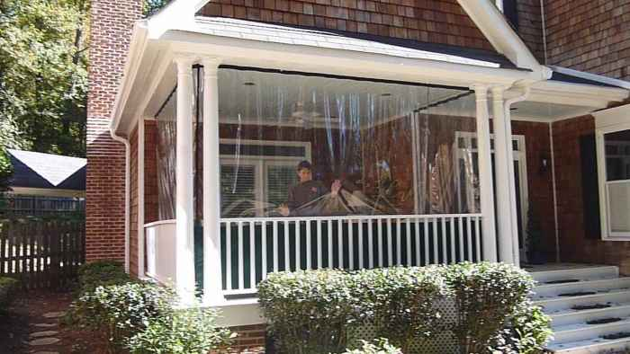Clear Vinyl Patio Enclosure Weather Curtains Clear Plastic Outdoor Climat