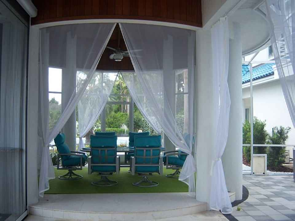 Screen Porch With Insect Curtains · Screen Porch 8 · Patio Curtains ...